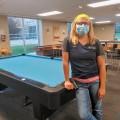 Allie Schulthess in campus recreation center