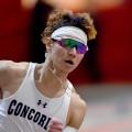 Paul Leahy running during track meet
